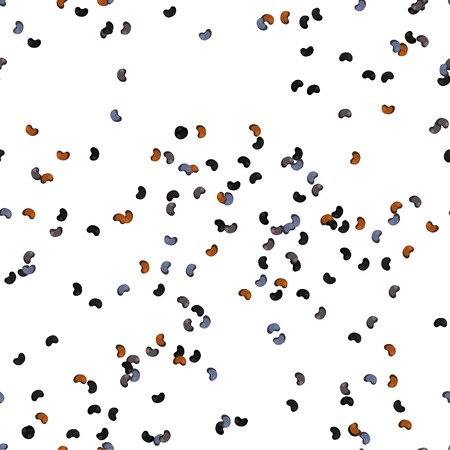 Poppy Seeds Seamless Pattern. flat Design Style.  イラスト・ベクター素材