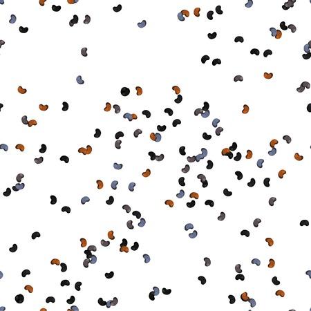allspice: Poppy Seeds Seamless Pattern. flat Design Style. Illustration