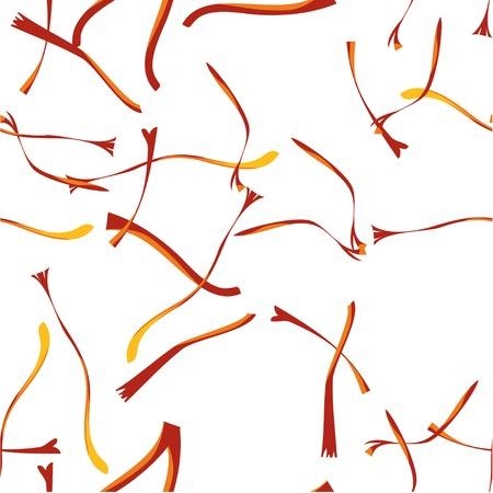 Saffron Seamless Pattern. Flat style Design