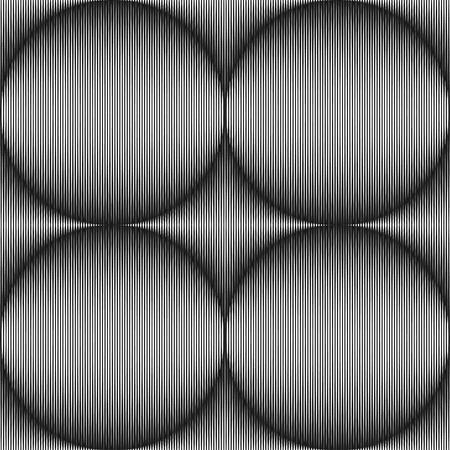 arte optico: Optical Art Seamless Strokes que forman esferas