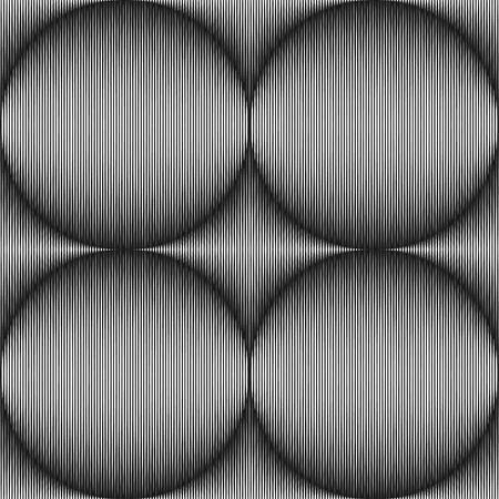 Seamless Optical Art Strokes that Form Spheres
