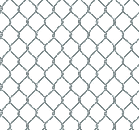 Chain fence in flat style, composition is seamless and the file contains the original pattern swatch. Illustration