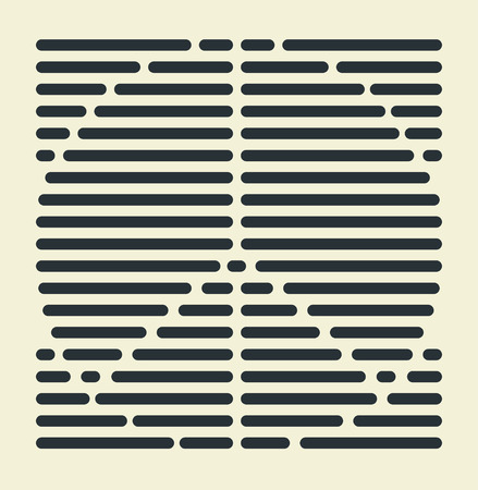 parallel: Striped style abstract sign of Peace Sign