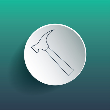 Hammer icon. Dropped shadow is gradient mesh Vector