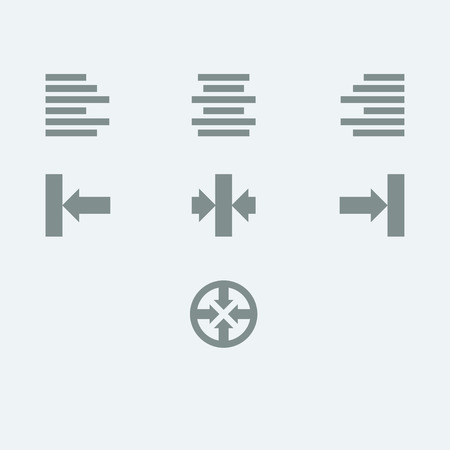 editor: Icons for a text editor or other sort of visual alignment.