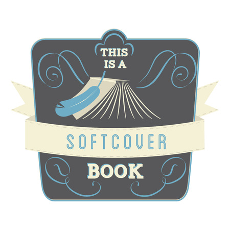 ideogram: Book Style and Type Label: Softcover Book Illustration
