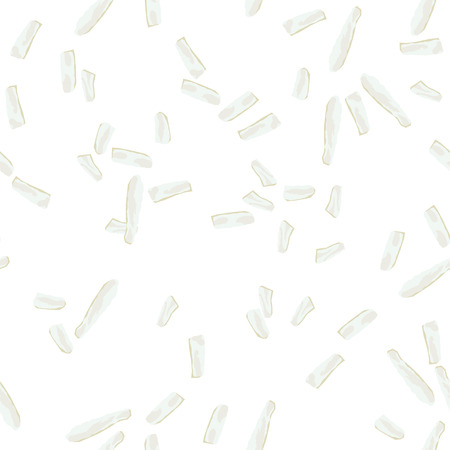 additives: Coconut Flakes Seamless Pattern. Flat Style Design