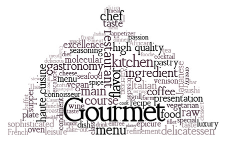 special education: Gourmet Theme Word Cloud Illustration