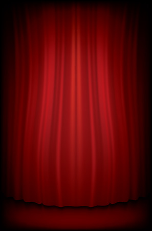 cabaret stage: Red Curtain  that is Realistic made with Gradient Mesh