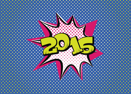 2016 in pop art style for the new year to come
