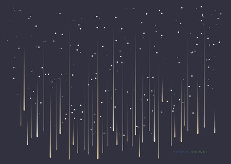 meteor: Meteor shower minimal design background in landscape format.