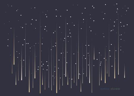 debris: Meteor shower minimal design background in landscape format.