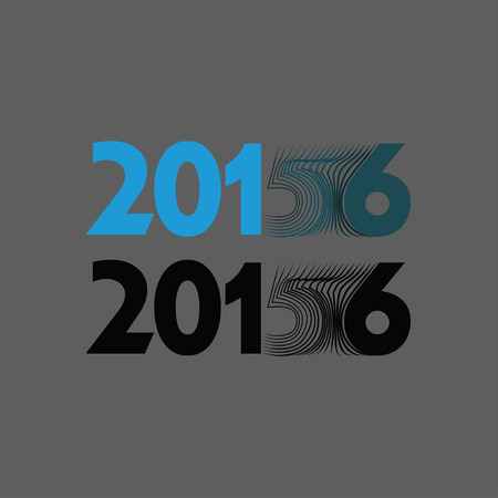 2015 is becoming 2016 in a modern typographical composition