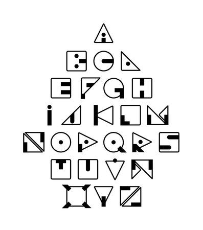 typeface: Geometric Retro Typeface