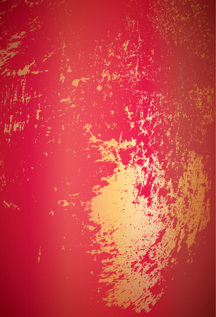 spatter: Red abstract background with golden spatter
