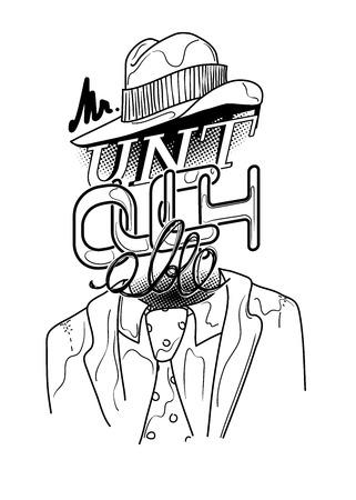 Pop Art Conceptual T-Shirt Illustration. Lettering is  Mr. Untouchable Illustration