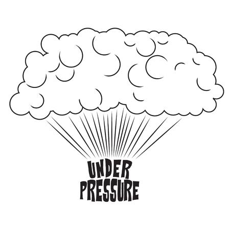 Steam rising from the inscrption under pressure, pop art illustration Banco de Imagens - 74818831