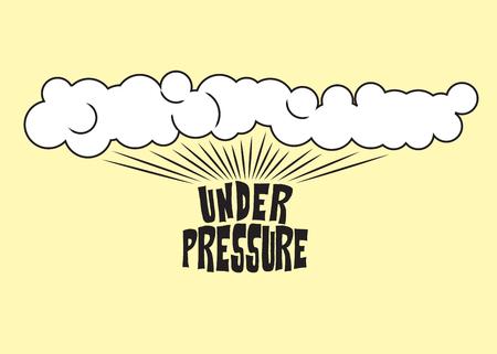 Steam rising from the inscrption under pressure, pop art illustration Banco de Imagens - 74818929