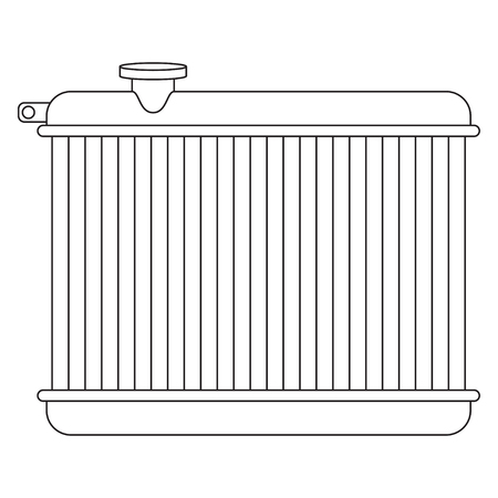 Car radiator line drawing with cap on