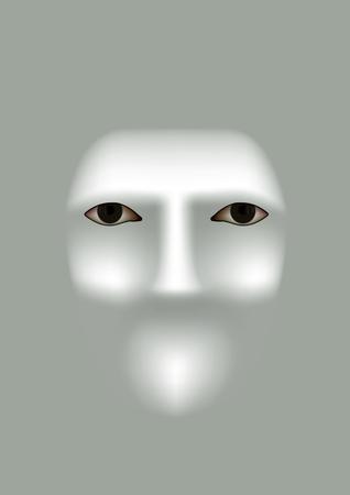 Eyes on mask - like background with soft highlights Illustration