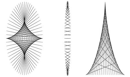 Abstract line structures shapes Ilustracja