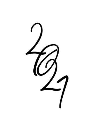 Happy new year 2021 fluid typography