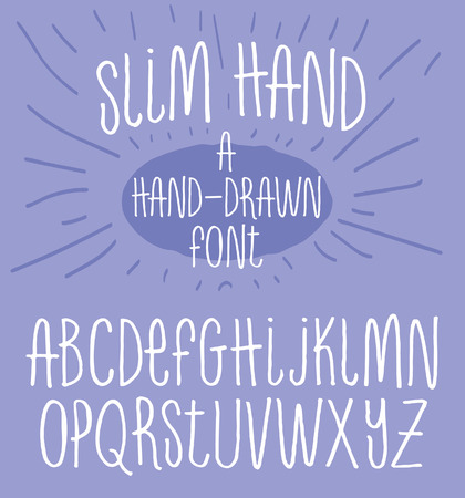 Hand getrokken alfabet magere typografie lettertype
