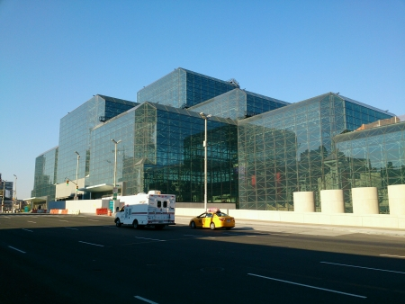jacob: Jacob Javits Convention Center in New York. Stock Photo