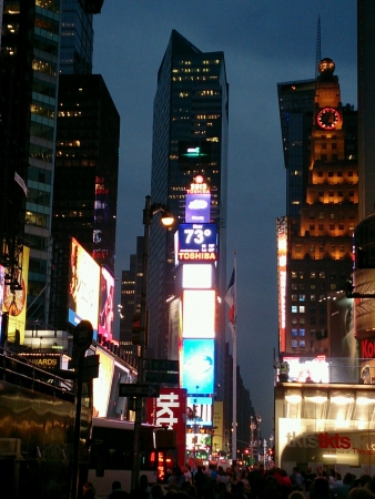 nightview: Night shot at Times Square New York
