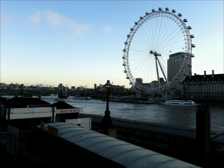 eye: Daytime of London Eye. Stock Photo