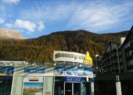station ski: Gornegrat Train Station in Zermatt ski village Switzerland. Stock Photo