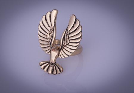 Ring shaped like a bird 写真素材