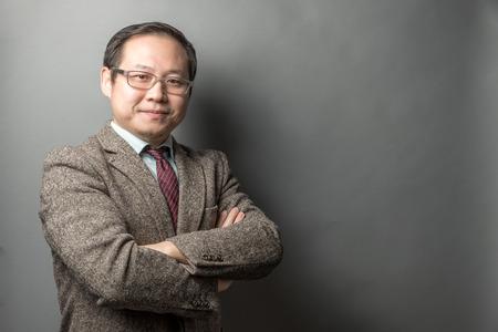 Przekonana, biznesmen Azji Zdjęcie Seryjne