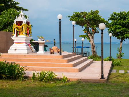 Buddhist shrine at the sea on an island
