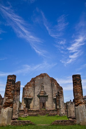 Wat Phasrirattanamahathat in Lopburi of Thailand Stock Photo
