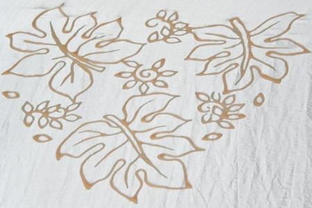 Batic Fabric Flower Souht of Thailand photo