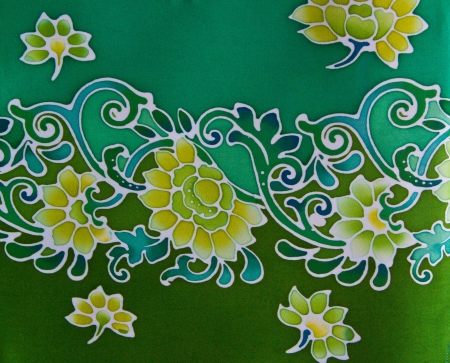 batik: Batic Fabric Flower Souht of Thailand Stock Photo