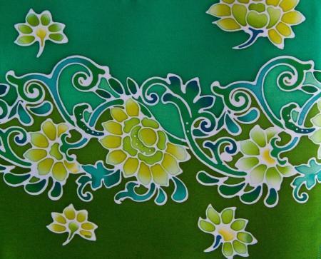 Batic Fabric Flower Souht of Thailand Stock Photo