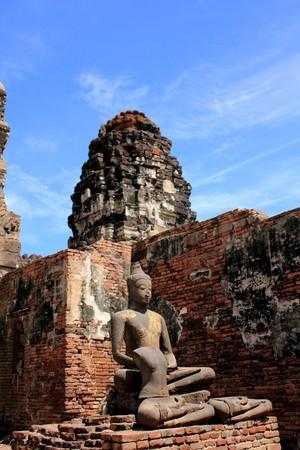 godhead: Buddha Image in Pagoda Lopburi of Thailand