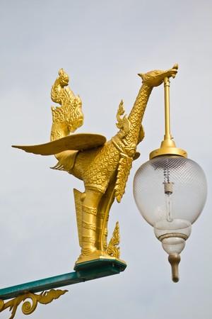 Street Lamp Swan Image photo