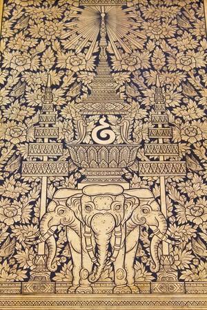 Traditionele Thaise stijl schilderij kunst