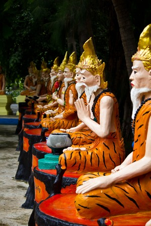 recluse: Ascetic statue in Thai style molding art