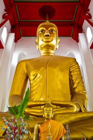 big buddha image in thai temple