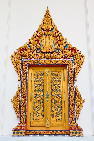 Traditional Thai style window temple photo