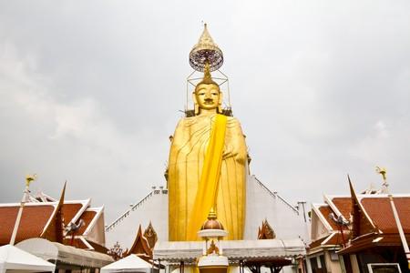 Standing Big Buddha image Stock Photo
