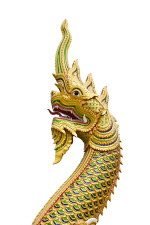 King of Naga in Temple of Thailand photo