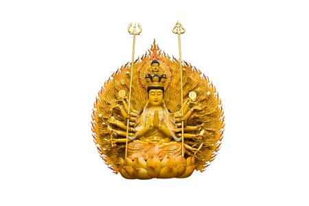 The images of Guanyin on white background