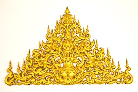 thai painting: traditional Thai style molding art  at Wat Rong Khun temple in Chiang Rai, Thailand Stock Photo