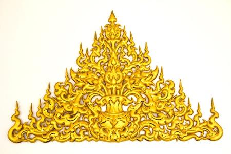 traditional Thai style molding art  at Wat Rong Khun temple in Chiang Rai, Thailand photo