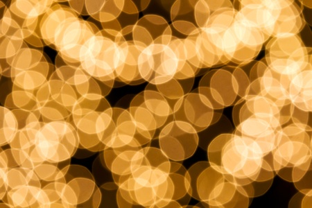 Gold spots bokeh background, Christmas light background photo